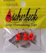 Fisherbeck #16 Bright Orange with Black Eye 3 Pack